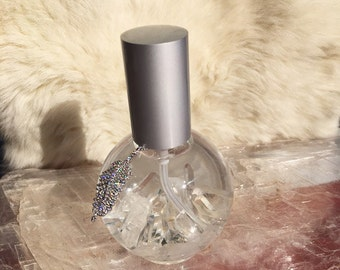 Healing Crystal Aromatherapy Spray – Clear Crystal Quartz with White Sage