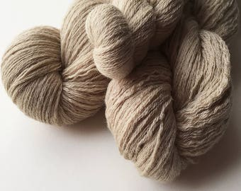 Recycled Lace Yarn - Merino - Beige