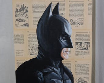 Original Painting of Batman from The Dark Knight Trilogy