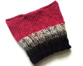 Ready to Ship: Striped Pussyhat - Kitty Cat Hat - Dark Pink Hat - Adult Hat - Women Hat - Womens March - Pussy Hat - Wool Hat - Rally Hat