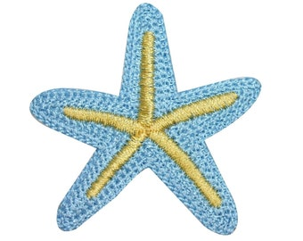 ID 0326A Starfish Sea Star Patch Tropical Beach Embroidered Iron On Applique