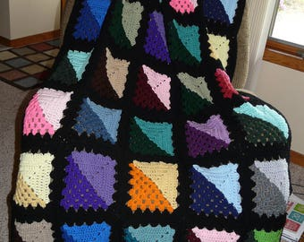 Shaded Granny Square Afghan FREE SHIPPING on 2nd Item to Same Address
