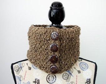 Barley Button Cowl - Crochet Pattern
