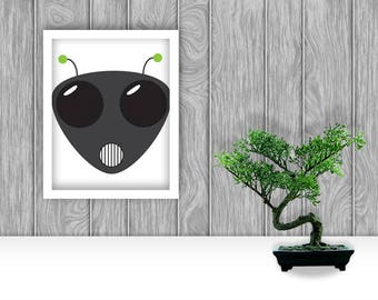 Alien Digital Art Print