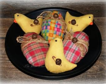 Primitive Easter Bowl Fillers~Easter Decor~Spring Decor~Easter Peeps~Easter Chicks~Easter Eggs~Primitive Eggs~Easter Decorations