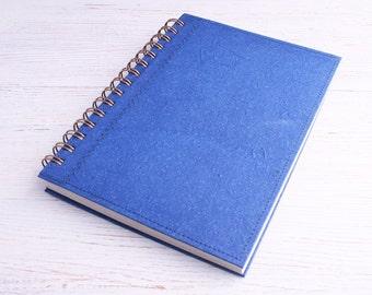 Journal Dot Grid A5 Notebook plain dark blue / navy blue journal / dotted notebook / blue planner / recycled notebook / eco planner