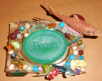 Weird Soap Dishes Lucite Mixed Media Shark Infested Soap Dish es  Soap Dish Assemblage