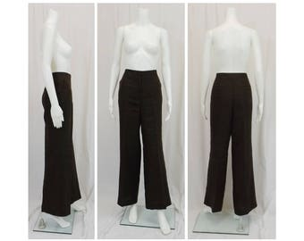TALBOTS 100% Linen Slacks Size 12