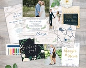 Printed Sample Set by Jeneze Designs - Generic Wedding Invitations - Paper Samples, Printed on a variety of papers