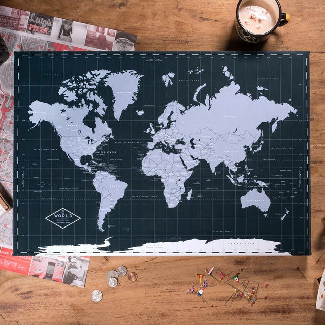 World Map Posters Canvas Frames and Guest Books von Macanaz