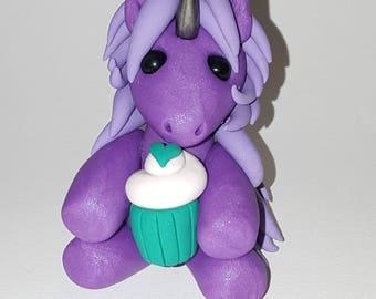 Polymer clay pudgy unicorn