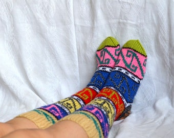 women socks,  Handmade Turkish Socks legwarmers, womens Knee High Socks, christmas stockings, christmas gifts for women