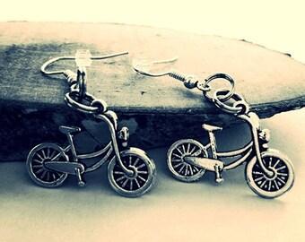 Earrings Bicycle