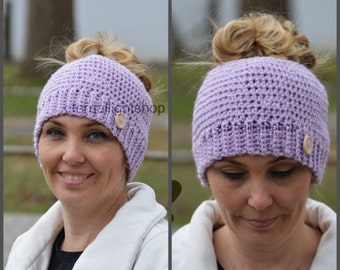 ALL SIZES/COLORS Ponytail Messy Bun Beanie Hat