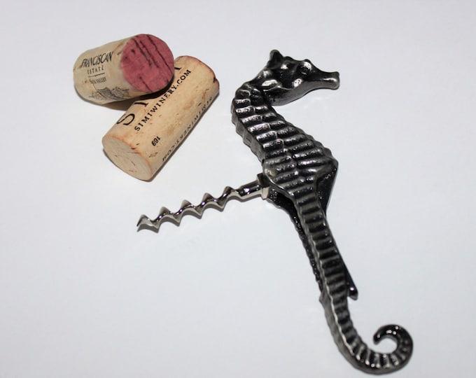 Vintage 1980s Figural Seahorse Corkscrew