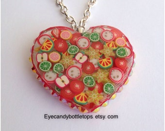 Full of Fruits Resin Charm Necklace