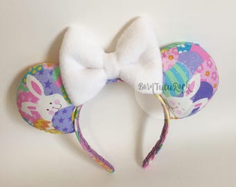 Easter Mouse Ears // Bunny Mouse Ears // by Born Tutu Rock