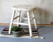 Vintage wooden step stool, country, rustic, farmhouse decor