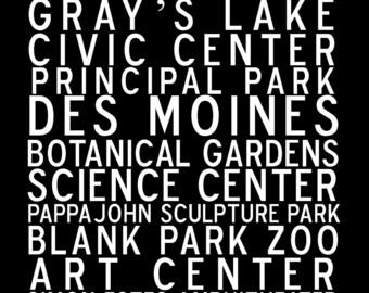 Des Moines Subway Art 8 x 10 Digital Download