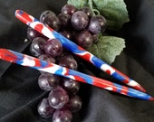 4th of July themed 6 inch acrylic hair stick (choose 1 or more)