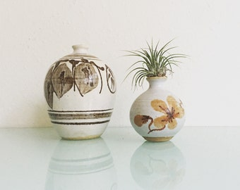 Earthy Ceramic Weed Pot Duo