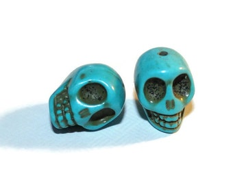 Large Howlite Skull Beads - 20mm - 2 Beads (050)