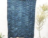 Vintage African Indigo Textile, Indigo Throw African Indigo Fabric Indigo Cloth Indigo Shawl Hand dyed indigo fabric Indigo Blanket #49