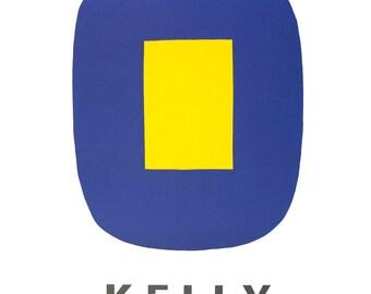 Ellsworth Kelly-Jaune Sur Bleu-1965 Lithograph