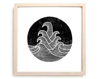 "Surfing Art Print ""7 Seas"""