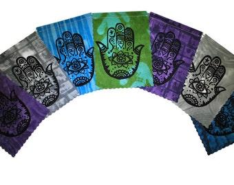 Hamsas (Made with original hand carved block prints)(small) Prayer Flags