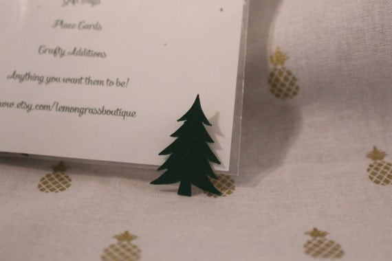 Pack Of 25 Mini Green Christmas Tree Table Scatter