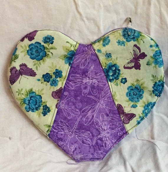 Purple Heart Oven Mitt/Pot holder