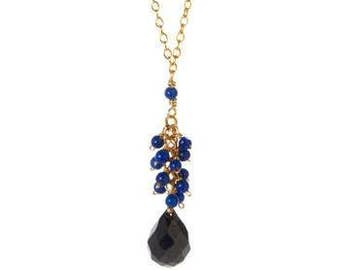Dark Blue Lapis Silver necklace