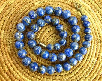 Natural Afghani Lapis Beads
