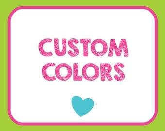 Add Custom Colors
