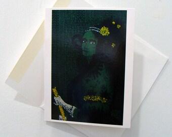 Ada Lovelace - Art Notecard - Women Throughout History - Computer Programer - by Bonnie Fillenwarth