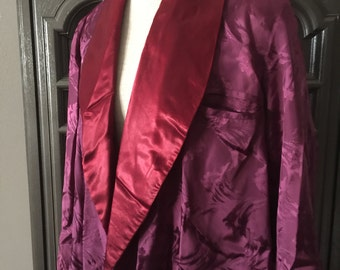 40s Satin Burgandy Mens Robe