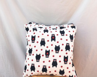 100% Cotton Kumamon Bear Cushion Cover