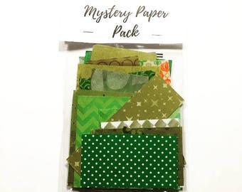 Mystery Paper Pack 6: Papers and Supplies for Art Collages, Art Journals, Greeting Cards, Mail Art, and more Fun Craft Projects