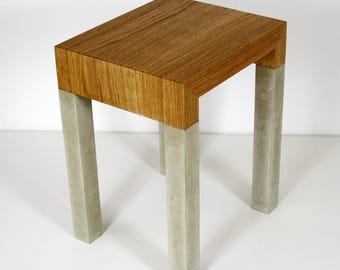 Table with concrete legs