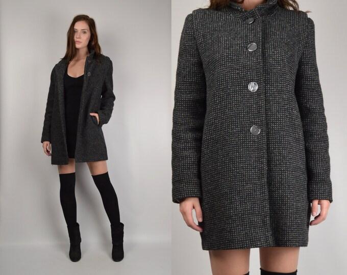 Vintage Wool Tweed Coat