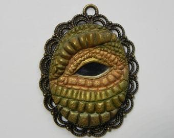 Dragon Mirror Eye Pendant