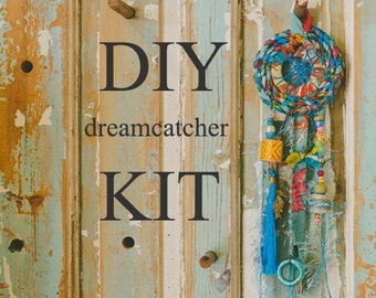 Blue Dream Catcher, DIY Home Projects, Diy Home Decor, How To Make Dream Catcher, Make Your Own Ornament, Sewing Kit, Nursery Decor, Diy Kit