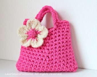Crochet pattern - Little Girls Flower Purse - Listing76