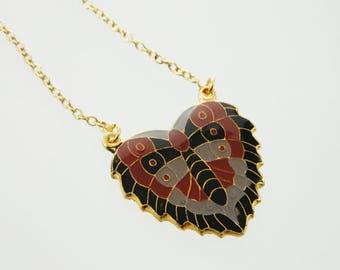 Moth Pendant Necklace - 18k Gold Filled