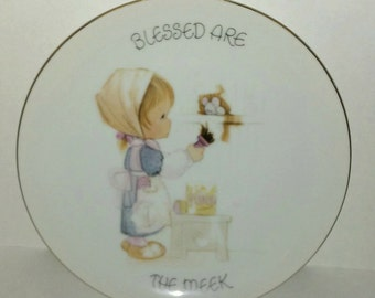 Precious Moments Collectors Plate - Blessed are the Meek