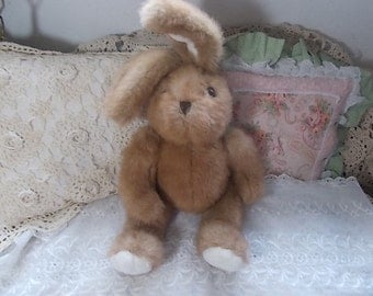Bunny, Rabbit Stuffed Plushie Bunny,  Stuffed Plushie Rabbit, Vintage Stuffed Toys, Stuffed Toys, Vintage Toy