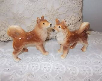 RESERVED / Collie Dog Salt and Pepper Shakers, Vintage Collie Dog Slat and pepper shakers, Collectible Salt and Pepper Shakers,