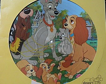 Walt Disney's Lady and the Tramp, picture disc, vinyl LP, 1980, #3103, Disneyland Records