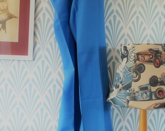 "49. Vintage sligtly flared Carine pants blue (W38-L98cm / W15-L38.6"")"